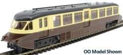 7D-011-004D Streamlined Railcar W11 BR Lined Chocolate & Cream DCC