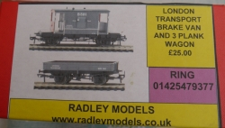 BRAKE VAN AND 3 PLANK WAGON WAS £25 NOW £17