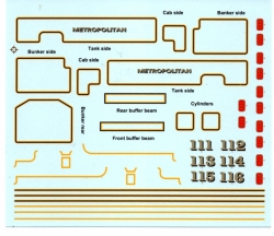 4mm- OO GAUGE MET TANK TRANSFERS