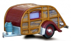 CARAVAN WOODY - BROWN / RED