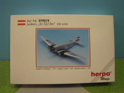 Herpa 1901, Junkers JU52 / 3m, lane N,  New in original box
