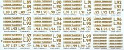 O GAUGE SINGLE PANNIER TANK NUMBER L89 TO L99