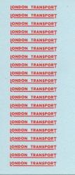 4mm- OO GAUGE RED UNDERLINED LONDON TRANSPORT