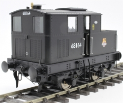 Class Y3 Sentinel 4wVB 68164 in BR black with early emblem - DCC fitted