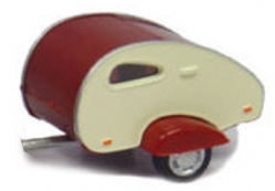 CARAVAN TEAR DROP WHITE/RED