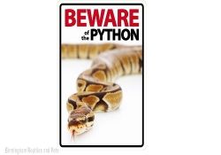 Beware of the Python