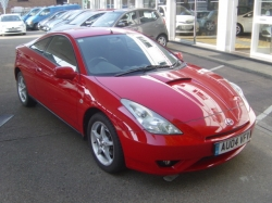 0404     CELICA 1.8 COUPE, RED, ONLY 49K, ONE OWNER