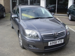 0858      AVENSIS 1.8 TR AUTOMATIC 5DR, GREY, SAT NAV, ONE OWNER, FSH