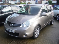 0909     NISSAN NOTE AUTOMATIC 1.6 5DR TEKNA