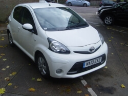 1313      AYGO 1.0 5DR FIRE, WHITE