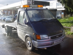99V     FORD TRANSIT VEHICLE TRANSPORTER 190 LWB 2.5 DIESEL 3.5 TON, NO VAT