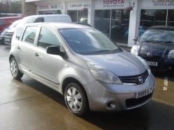 0959     NISSAN NOTE AUTOMATIC 1.6 5DR VISIA, SILVER, 62K