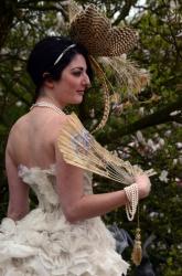 Ruffled Organdy and Organza Bustle Dress