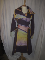 Custom Coat In Mauve Wool