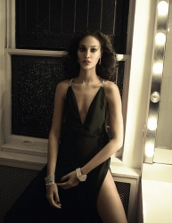 Backless Silk Wrap Dress with Diamante Straps