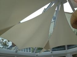 Conservatory sails reduce glare