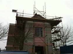 Scaffolding around property
