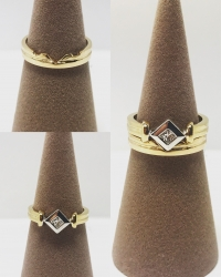 ring placed onto soft holder