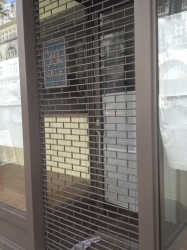 Recently installed security shutters for shop