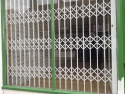Newly fitted security shutters