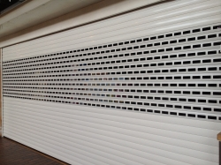 New white security shutters for business