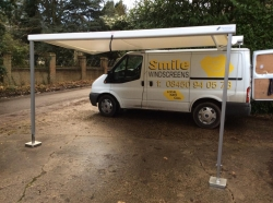 Smile Windscreens company van set up.