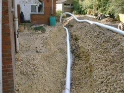 to divert groundwater away from the house foundations