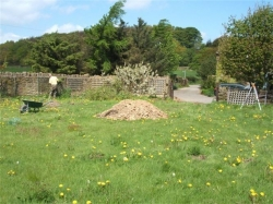 showing all that remained of the original barn