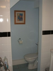 WC in the alove under the new staircase, the small space was utilised to it's full potential