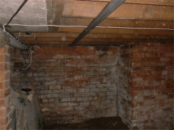 corner of the underfloor void before the conversion began