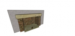A client wanted to know how a brick fireplace would look; so we produced a 3D image to show them.