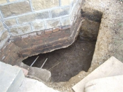 This time the whole rear and side elevation required underpinning due to leaking drains.