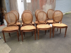 French Caned Chairs