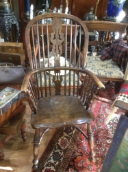 19th century Windsor armchair in elm