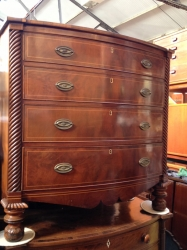 Jersey Mahogany Bow Fronted Chest