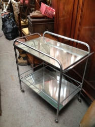 1950s Chrome and Mirror Trolley
