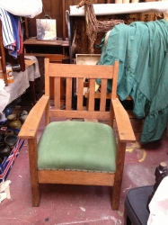Late 19th c American oak chair