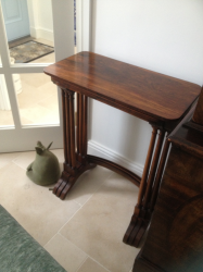 Nest of three late Regency Rosewood tables