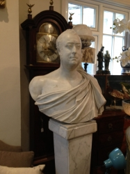 Marble Bust of a Man in Roman Costume