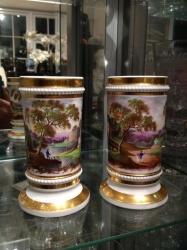 Pair of rare Ridgeway vases