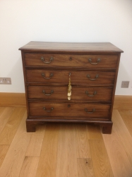 George III small size mahogany chest