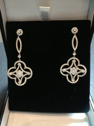 Pair of 18ct white gold and diamond earrings