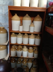 Jersey Stoneware Flagons