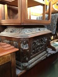 Mid 19th Century Carved Oak Cellaret
