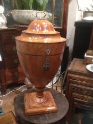 18th century Satinwood cutlery urn