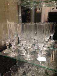 Set of Saint Louis champagne flutes