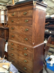 Jersey Mahogany Chest on Chest