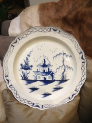 18th century creamware charger