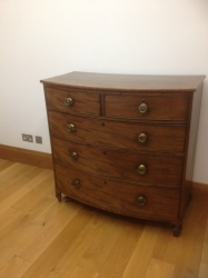 Attractive late George III bow fronted chest