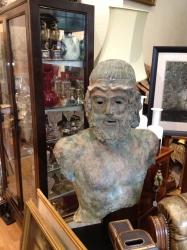 Large Bronze Sculpture of a Greek Warrior